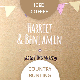 iced coffee wedding colours