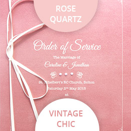 rose quartz wedding colours